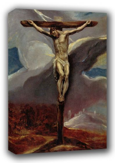 El Greco (Domenico Theotocopuli): Christ on the Cross. Fine Art Canvas. Sizes: A3/A2/A1. (00665)
